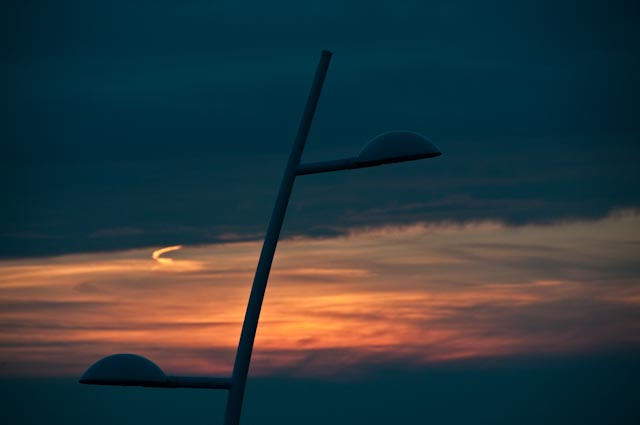 zonsondergang in Scheveningen